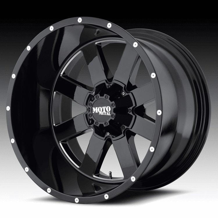 20 inch 20x9 Moto Metal Black Wheels Rims 5x5 5 5x139 7 Dodge RAM 1500
