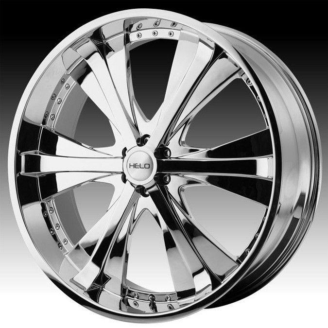 24 inch Helo Chrome Wheels Rims 6x5 5 6x139 7 30 Hummer H3 Escalade