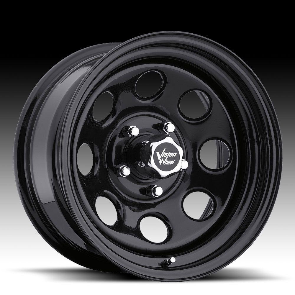 Soft 8 Black Steel Wheels Rims 5x5 5x127 Jeep Wrangler JK