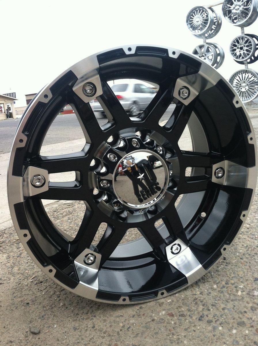 18 Black Wheels Tires 8x170 Ford 250 Excursion 275 70 18 Nitto XD Spy