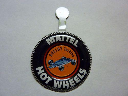 Mattel Hot Wheels Pin Badge Shelby Turbine 1969