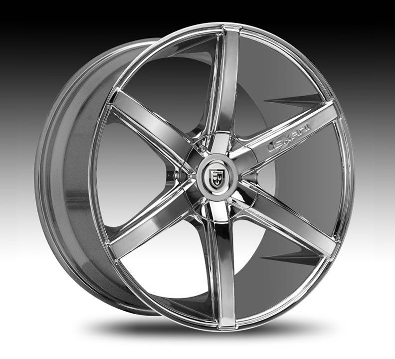 Chrome Wheel Set Staggered Rims for 5LUG Cars Chrome Rsix 20x10