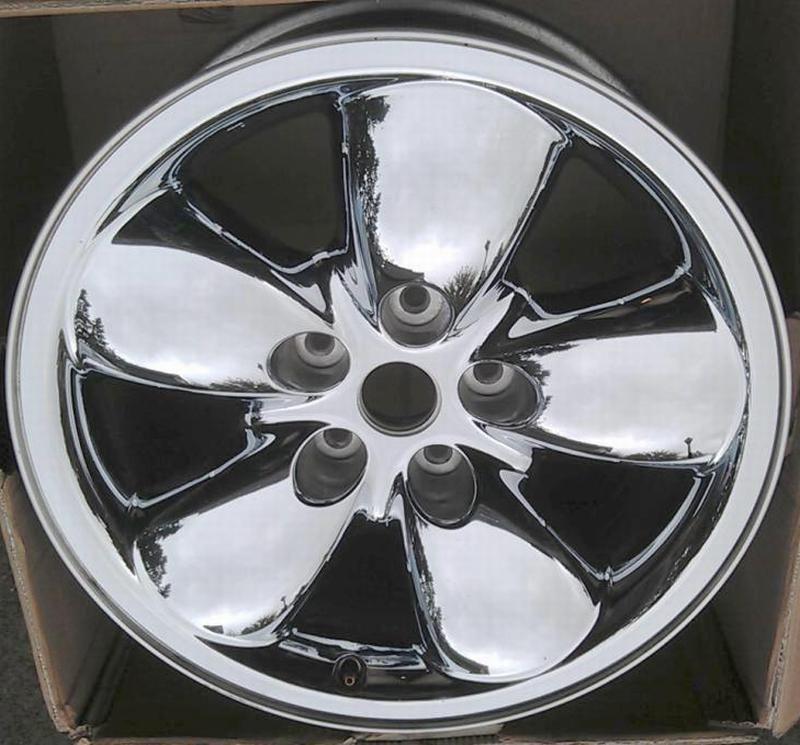 20 Dodge RAM 1500 2003 05 Wheel Rim CHROME CLAD 2167A OEM 52110356AA