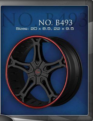 20 inch Gino 493 Black Wheel Rims Tires Fit Toyota Nissan Honda Ford