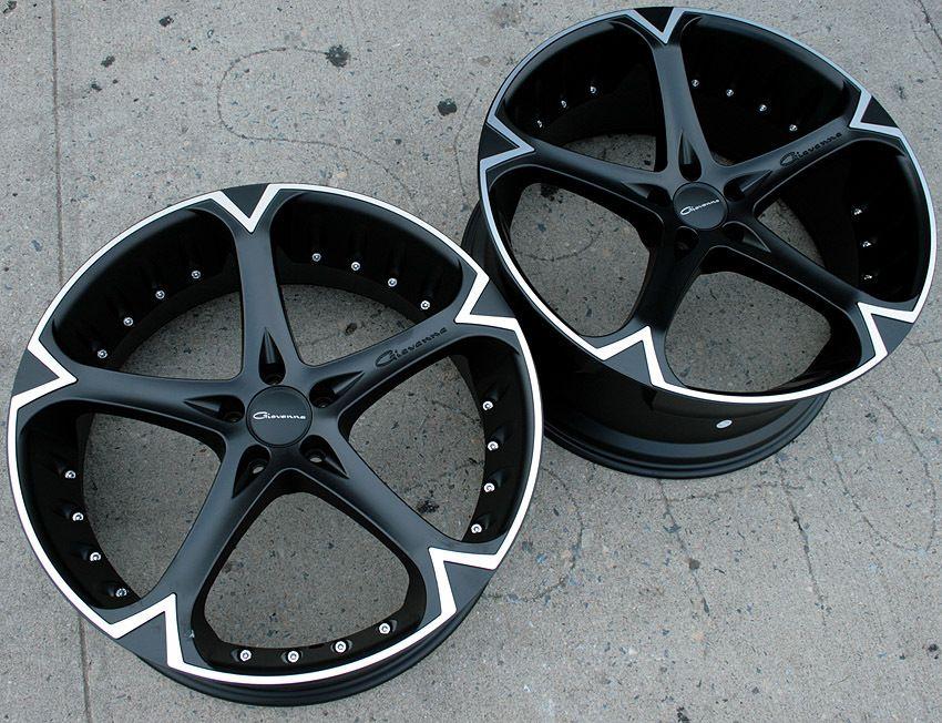 Giovanna Dalar 5V 20 Black Rims Wheels S320 Staggered
