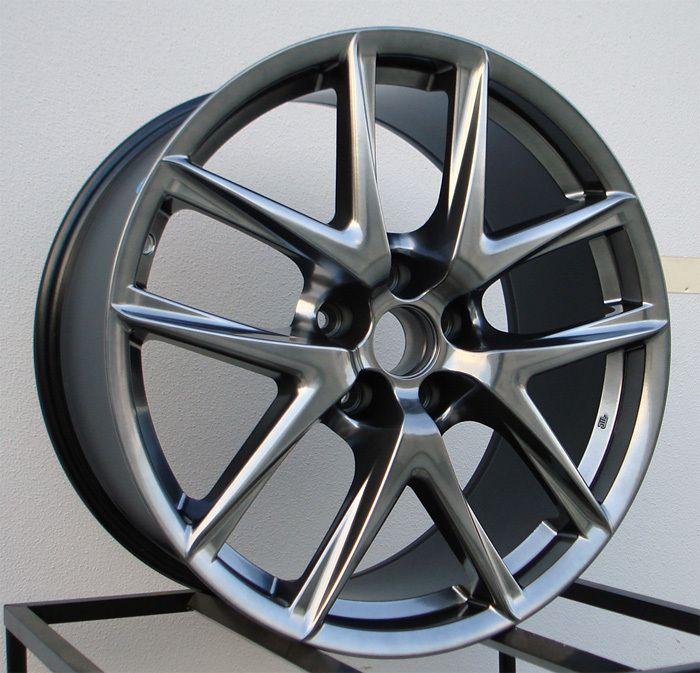 19 LFA Style Hyper Black Wheels Rims Fit Nissan 350Z 370Z Altima
