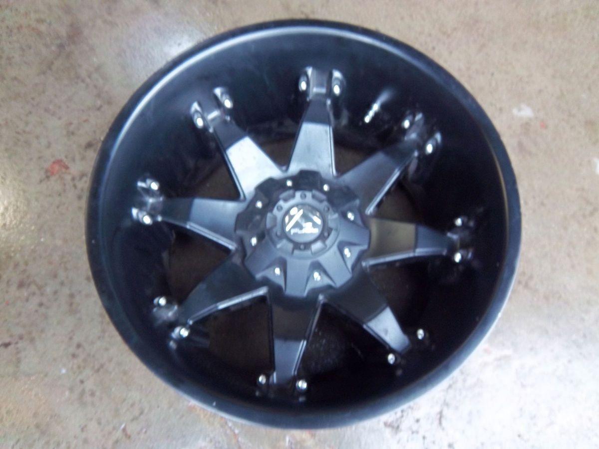 Ford F250 F350 Fuel Octane matte Black Wheel Rim Deep Lip chevy 8x6 5