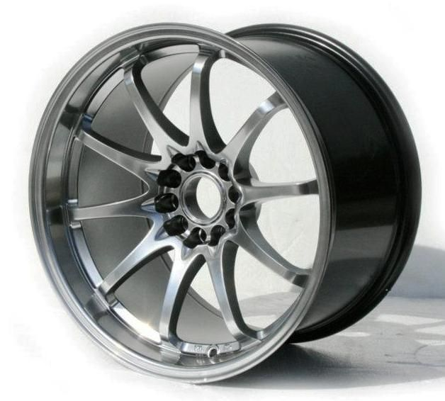 18x9 5 10 5 5x114 3 12 15 Hyper Black Rim Wheels Staggered