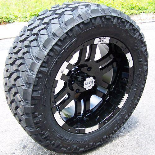 20 Black Moto Metal MO951 Wheels Nitto Trail Grappler Tires Dodge RAM
