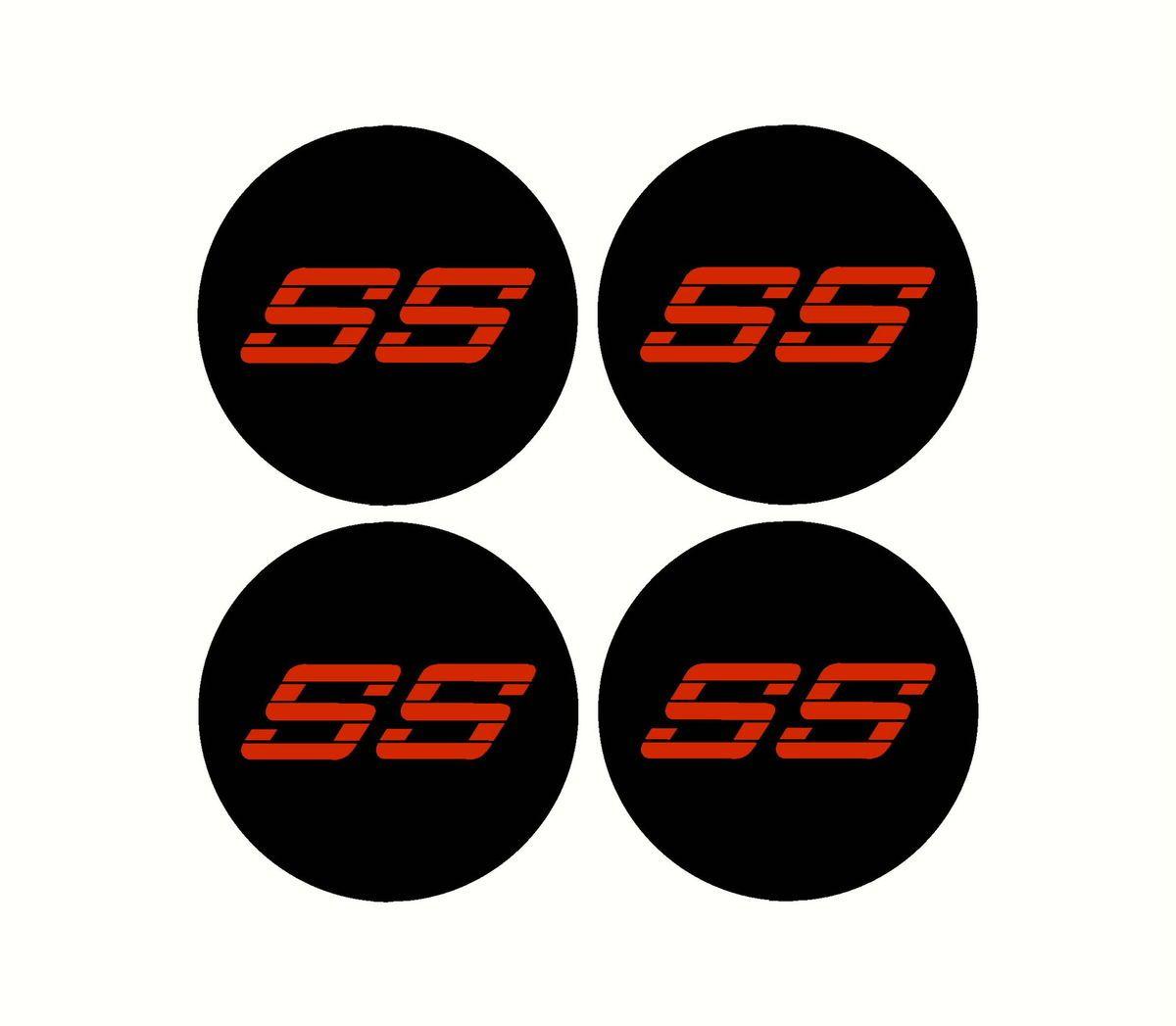 Chevy SS Rim Wheel Center Cap Overlay Decals 454 350