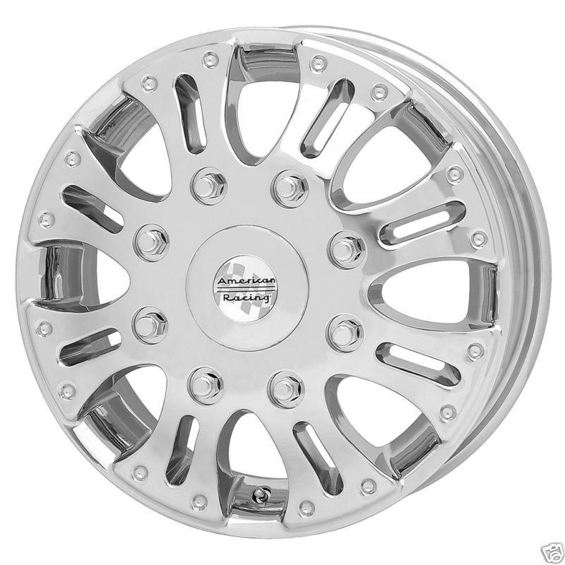 Racing Deuce Dually Chrome Ford Duallie Front Wheel Rim