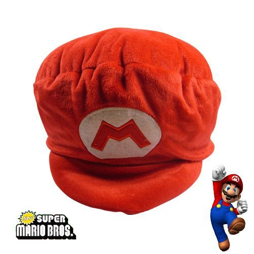 Super Mario Bros Cap Hat Soft Plush Toy Cosplay Red